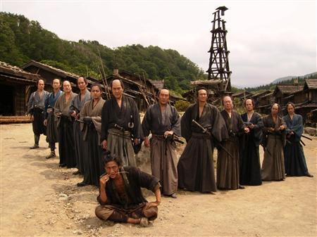 Photos des 13 assassins côte à côte du film de Takashi Miike.