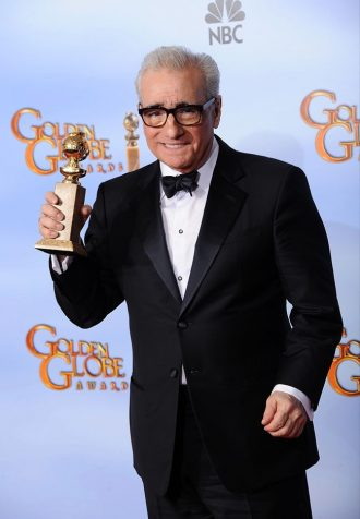 Photo de Martin Scorsese récompensé aux Golden Globes en 2012.