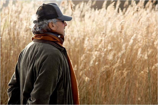 Photo de Steven Spielberg sur le tournage de Cheval de Guerre.