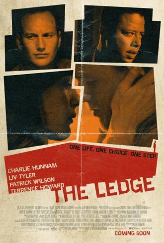Affiche du film The Ledge sur laquelle nous découvrons les photos des quatre personnages principaux. Charlie Hunnam et Liv Tyler s'embrassent.