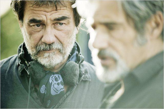 Photo d'Olivier Marchal et Gérard Lanvin sur le tournage du film Les Lyonnais.