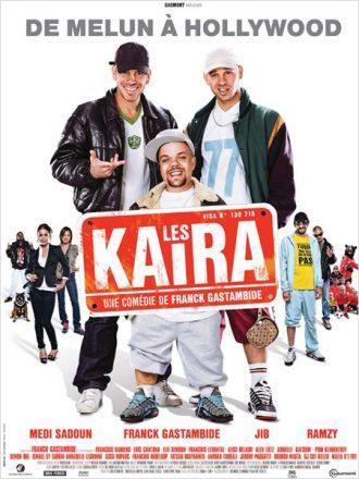 Affiche des Kaïra sur laquelle nous découvrons les personnages principaux sur un montage photo qui présage une comédie.