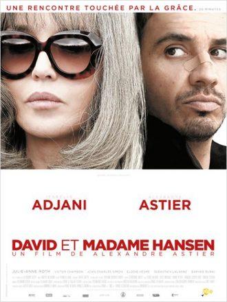 Affiche du film David et Madame Hansen sur laquelle nous découvrons les visages tourmentés d'Isabelle Adjani et Alexandre Astier.