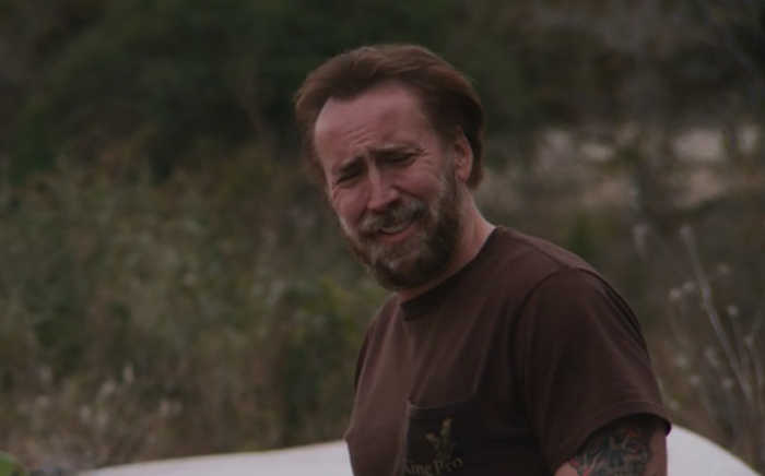 Photo de Nicolas Cage effectuant une grimace dans Joe.