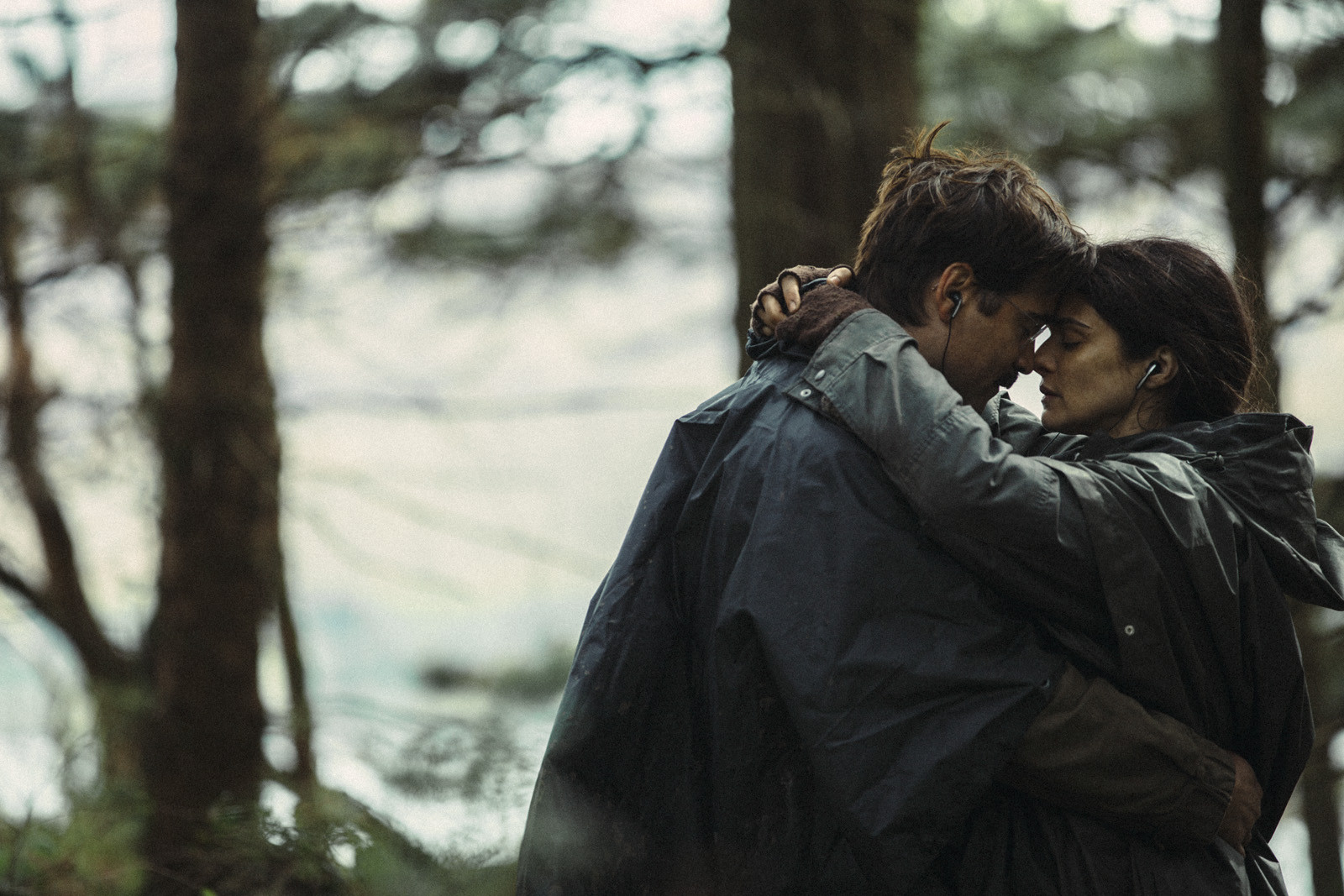 Photo de Colin Farrell et Rach Weisz qui s'étreignent dans le film The Lobster