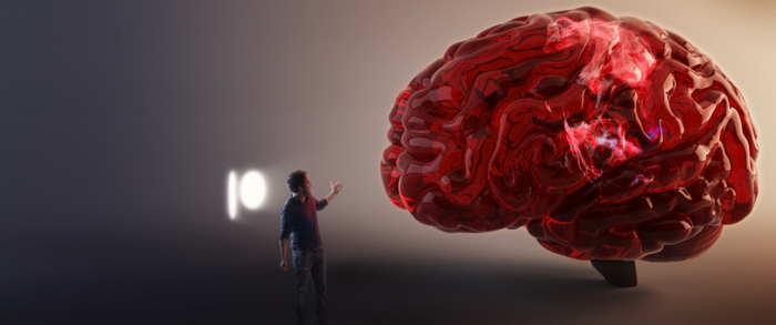 Photo tirée du documentaire Sugarland de Damon Gameau, sur laquelle le réalisateur se trouve en miniature dans son cerveau.