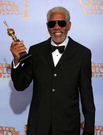 Photo de Morgan Freeman récompensé aux Golden Globes.