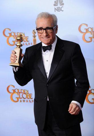 Photo de Martin Scorsese récompensé aux Golden Globes en 2012.
