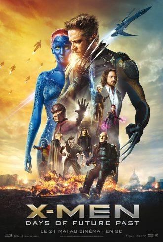 Affiche d'X-Men : Days of Future Past sur laquelle nous retrouvons tous les personnages principaux.