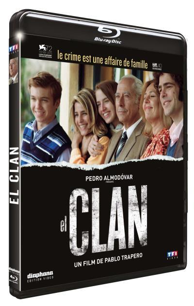 Photo du Blu Ray d'El Clan qui reprend l'affiche du film.